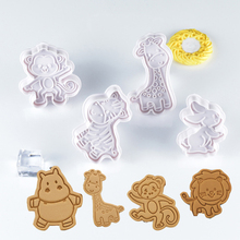 New 4pcs Cake Tools Animal Cookie Cutter Set Christmas Cutters Biscuit Stamp Fondant Mould Baking Sugarcraft Mold