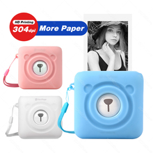 Peripage A6 Mini Photo Printer Portable Thermal Pocket Printer Inkless 304dpi Wireless Bluetooth PC IOS Android Soft Case cheap GZQIANJI Wired Wireless Thermal printer 58mm CN(Origin) manual 40ppm 100-240V Personal Work Management None Universal ticket printer
