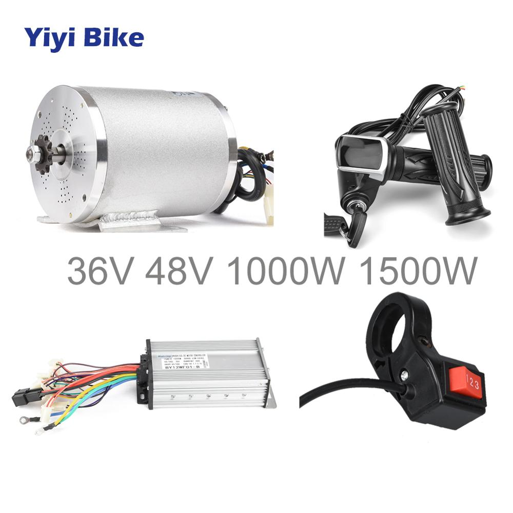 Electric Scooter Motor 36V 48V 1500W 1000w Brushless DC Motor for Electric Vehicle,Ebike Conversion Kit Controller Bike Parts