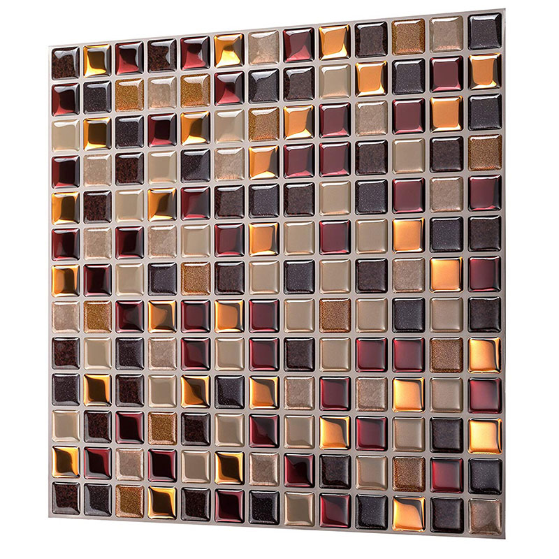 magic gel tiles self stick mosaic tile for kitchen and bathroom backsplash creative brick crystal wallpaper 1 sheet