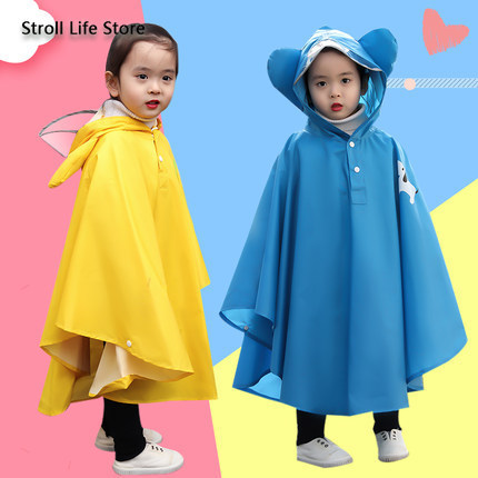 Yellow Raincoat Kids Child Poncho Girls Boys Waterproof Pink Rain Coat Suit Hiking Rain Jacket Kids Capa De Chuva Gift Ideas
