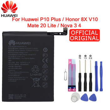 Hua Wei Original Phone Battery HB386589ECW 3650mAh For Huawei P10 Plus Honor 8X View 10 V10 Mate 20 Lite Nova 3 4 Batteries Tool