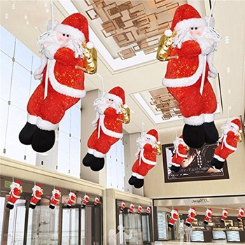 Christmas Decoration Santa Claus Climbing On Rope for Indoor/Outdoor Wall Window Hanging Xmas Ornament цена 2017