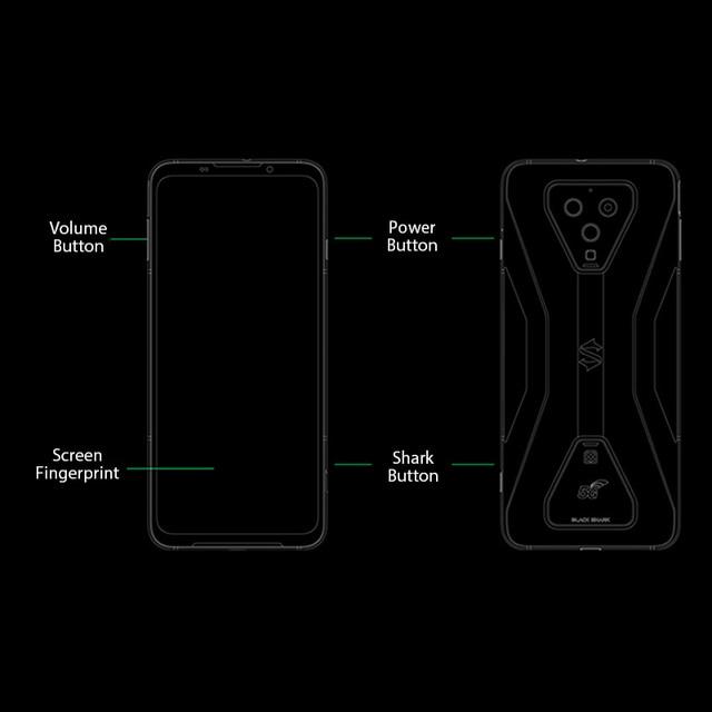 Global Version Black Shark 3 5G Snapdragon 865 8GB 128GB Game Phone Octa Core 64MP Triple AI Cameras 65W 4720mAh 5