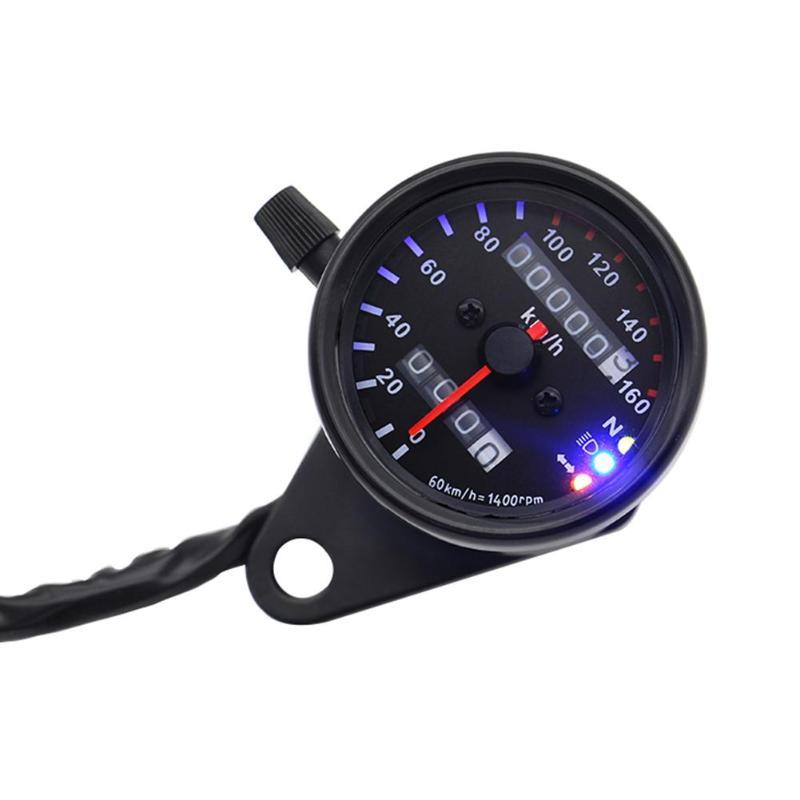 Hot Sale Motorcycle Speedometer Delicate Design Retro 12V Motorcycle Speedometer Odometer with Neutral Gear Headlight Indicator