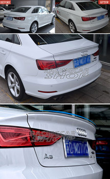 UNPAINTED  S S3 Style ABS Trunk Lip Spoiler For AUDI A3 4DOOR SEDAN 2014UP A002F 1