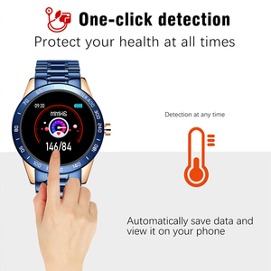 Image 4 - LIGE 2020 새로운 스마트 시계 남성 여성 스테인레스 스포츠 아이폰 심장 박동 모드 피트니스 트래커 smartwatch reloj inteligente Man