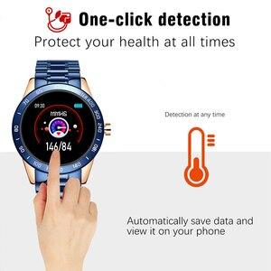 Image 4 - LIGE 2020 جديد ساعة ذكية الرجال النساء المقاوم للصدأ الرياضة آيفون وضع معدل ضربات القلب اللياقة البدنية المقتفي smartwatch reloj inteligente رجل