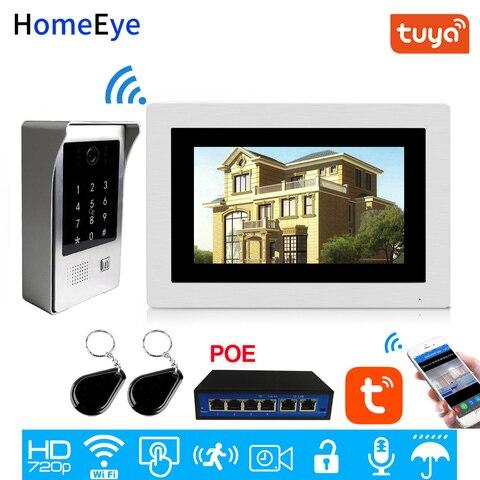 wifi ip telefone video da porta video porteiro tela sensivel ao toque app codigo de