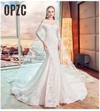 Модное простое свадебное платье русалка новинка 2020 в Корейском
