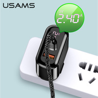 USAMS 18W PD3.0 QC 3.0 Fast Charger With Cable For Iphone 11 12 Mini Pro 8 plus X XR XS Samsung Huawei Xiaomi USB C Fast Chargeing Cable Set