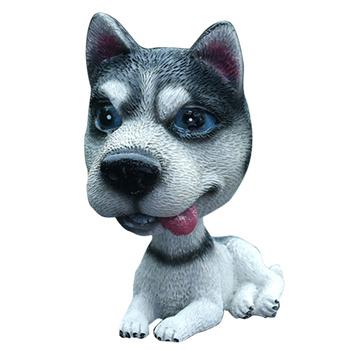 Ozdoby samochodowe akcesoria do wnętrz kiwający pies piękny Huskie siedząca postawa trzęsie głowę ozdoby dla psów tanie i dobre opinie CN (pochodzenie)