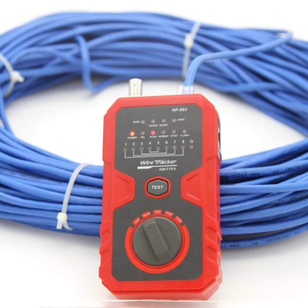 NF-858 Cable Line Locator Portable Wire Tracker Tester Finder For Network Testing 600m RJ11 RJ45 100m BNC