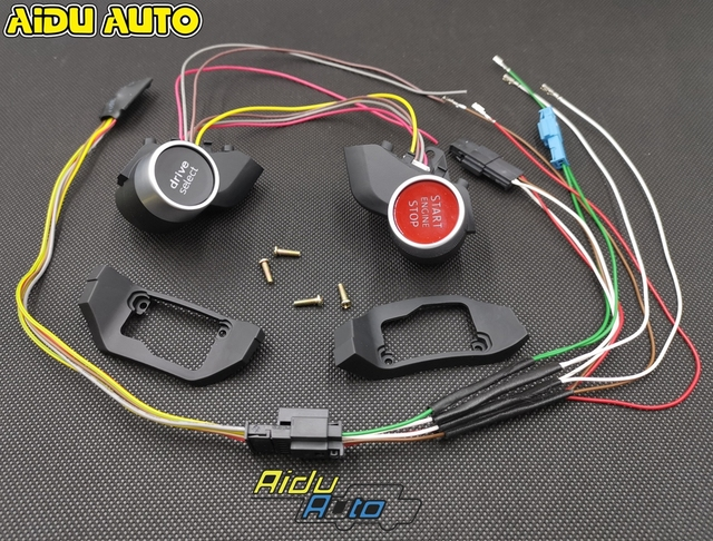For VW MQB Steering Wheel Driving Select Mode TT RS R8 Engine Start Stop Switch Button