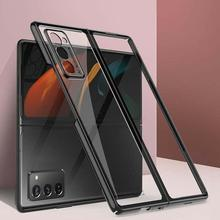 Suitable For GalaxyZ fold2 mobile phone case creative electroplating cover transparent protective personalized all inclusiv Y8E7
