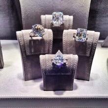 Choucong יוקרה אוהבי מבטיחים טבעת Sona AAAAA cz אמיתי 925 כסף סטרלינג אירוסין נישואים לתכשיטי גברים נשים