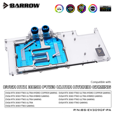 Barrow RTX 3090 3080 GPU Water Block for EVGA 3090 FTW3, Full Cover 5v ARGB GPU Cooler, BS-EV3090F-PA
