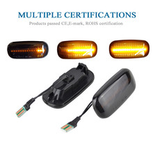 For Audi A3 S3 8P A4 S4 RS4 B6 B7 B8 A6 S6 RS6 C5 C7 Led Dynamic Side Marker Turn Signal Light Sequential Blinker Lamp led flowing rear view dynamic sequential mirror turn water signal light for audi a3 a4 b8 b8 5 a5 8w a6 c7 rs6 s6 4g c7 5 q5 q7