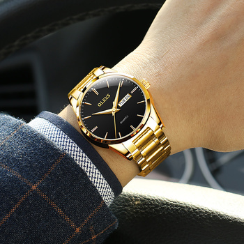Gold Steel Black