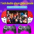 7-дюймовый беспроводной двойной плеер Видео игровой консоли встроенный 9800 Игры Поддержка Аркады/ДС/neogeo/gbc/snes/fc/md видео музыка