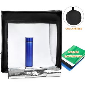 Image 2 - TRUMAGIN נייד צילום סטודיו תיבת 17 סנטימטרים 45cm מקצועי ירי אור אוהל עם מתכוונן בהירות 144 LED אורות 4