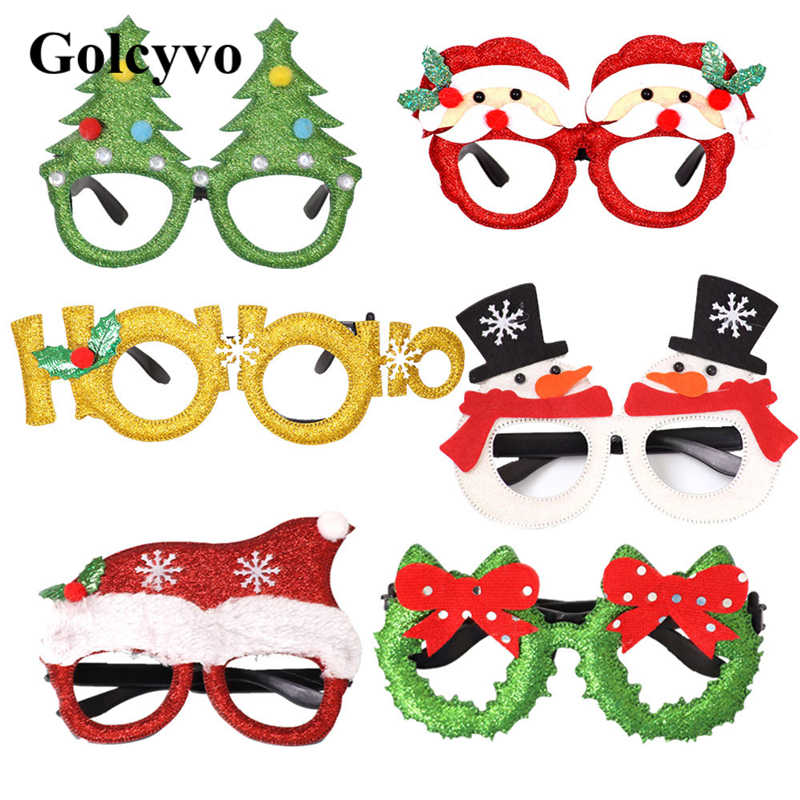 Christmas Party Glasses Frame Santa Snowman Cosplay Cute Adult Kids Gift Praty Decoration Toy
