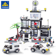 купить 631Pcs City Police Station KAZI 6725 Building Blocks action figure baby toys for children building bricks по цене 1598.32 рублей