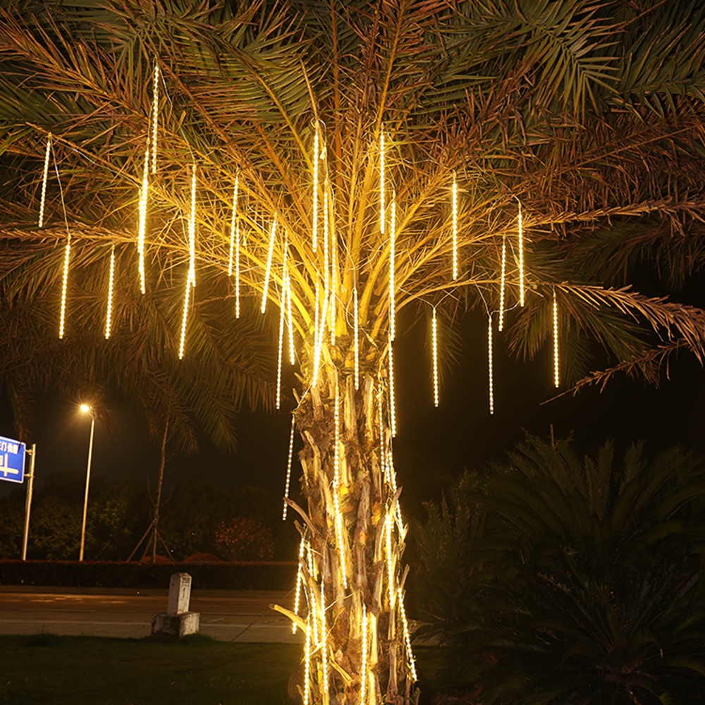 30cm 50cm Outdoor Waterproof Meteor Shower Rain 8 Tubes LED Holiday String Lights For Christmas Wedding Tree Party Decoration