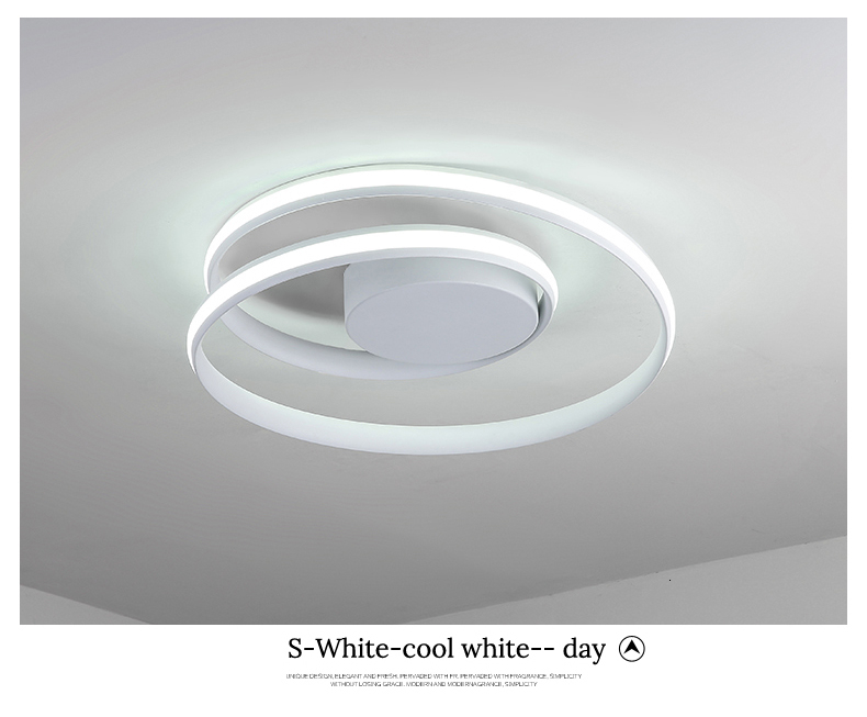 H0d2546524b8846c495b6fab3390395dcS Modern Ceiling Lights LED Lamp For Living Room Bedroom Study Room White black color surface mounted Ceiling Lamp Deco AC85-265V