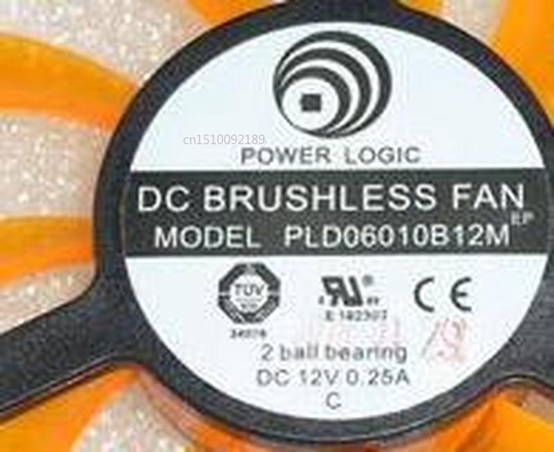 For Power Logic PLD06010B12M DC12V 0.25A 4Pin 4Wire 55X55X10mm GPU Fan Free Shipping