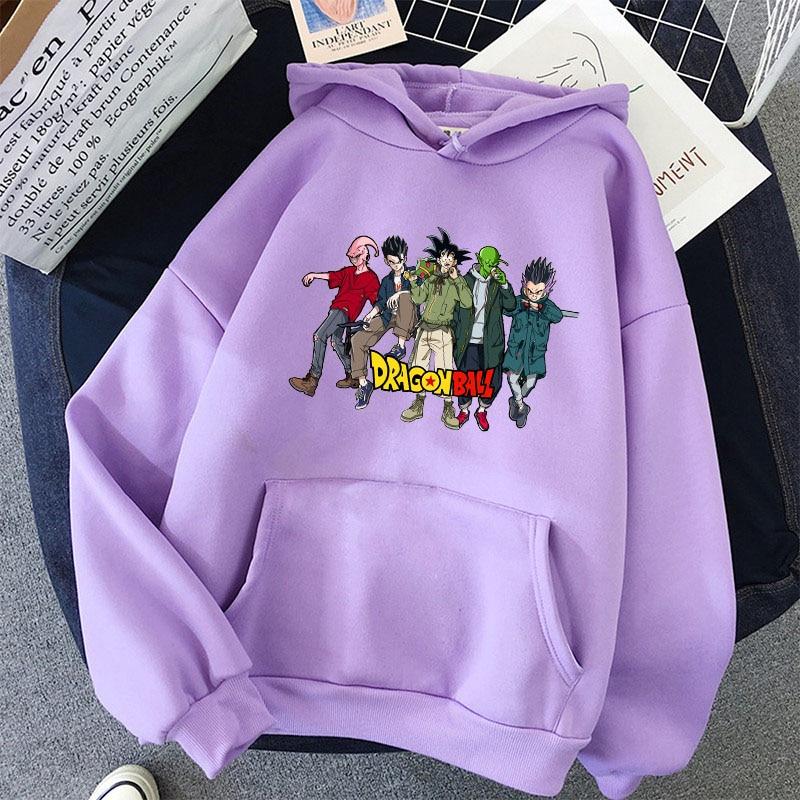 Japanese Anime Printed Hoodies 2021 Spring Autumn Long Sleeve Hoodie Women Cartoon Graphic Streetwear Sweatshirts Female Tops 37