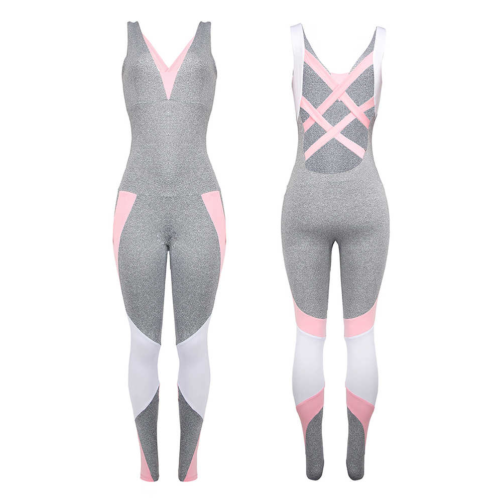 2019 Brand New Us Stock kobiety panie Gym Playsuit ubrania ćwiczenia sportowe Top Running Sportswear miękki kombinezon jogi