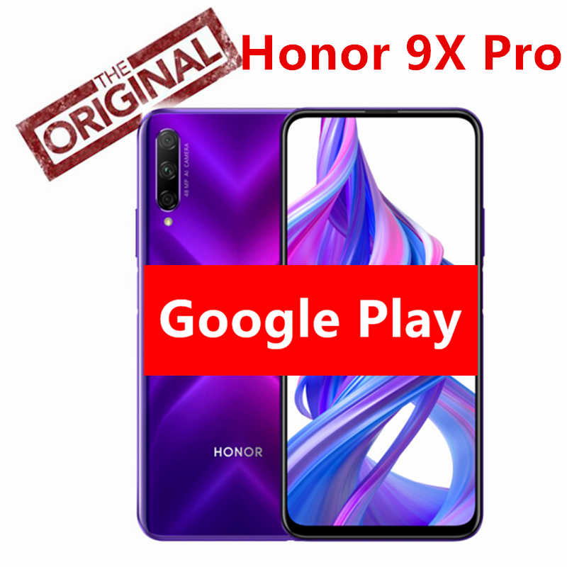 Neue original Honor 9X pro 8G 128G Smartphone Honor 9X pro Kirin 810 Octa Core 48MP Vorne Kamera 16MP 4000mAh