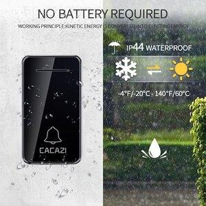Image 5 - CACAZI wodoodporny domowy bezprzewodowy dzwonek samoczynny zasilany led Light bez baterii bezprzewodowy dzwonek ue wtyczka 48 Chime 1 przycisk 1 2 odbiornik