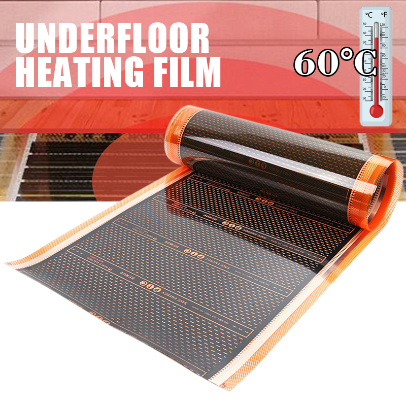 50cm 220W Infrared Floor Heating Film Home Warming Mat PTC Electric Home Underfloor Infrared Mat 200V-240V 60 Celsuis Mat