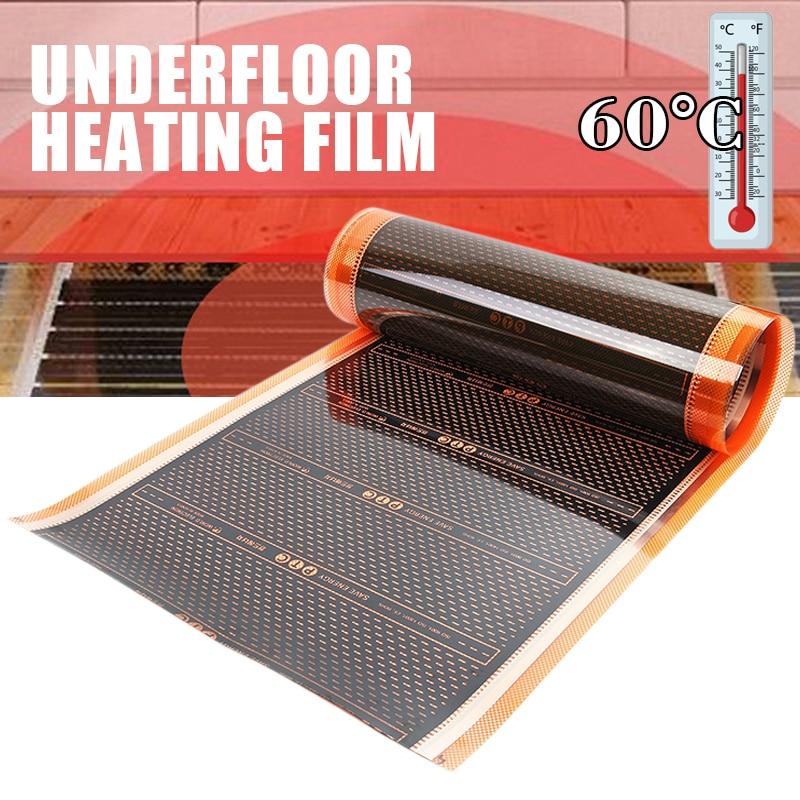 50cm 220W Infrared Floor Heating Film Home Warming Mat PTC Electric Home Underfloor Infrared Mat 200V-240V 60 Celsuis Mat