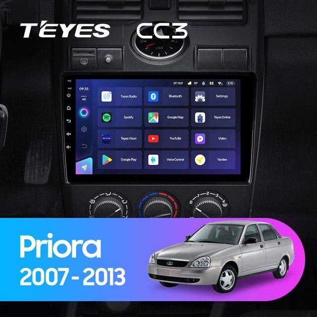 TEYES CC3 Штатная магнитола For Лада Приора 1 For LADA Priora I 1 2007 - 2013 до 8-ЯДЕР, до 6 + 128ГБ 27EQ + DSP carplay автомагнитола 2 DIN DVD GPS android 10 мультимедиа автомобиля головное устройство 2