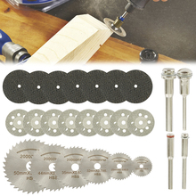 32pcs HSS מיני מסור עגול להב סט שרף חתוך גלגלים יהלום חיתוך דיסקים רוטרי כלי אביזרי עבור dremel עץ פלסטיק