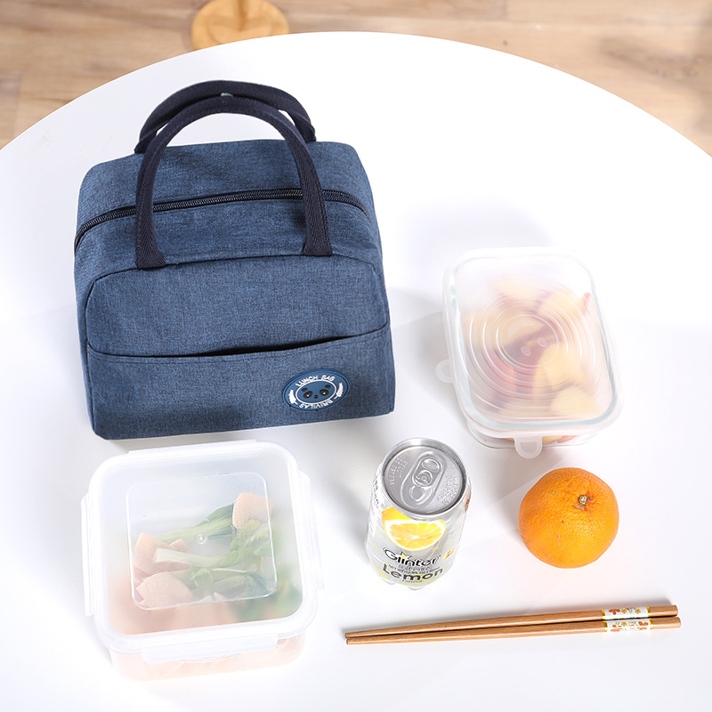 1PCs Fresh Cooler Bags Waterproof Nylon Portable Zipper Thermal Oxford Lunch Bags For Women Convenient Lunch Box Tote Food Bags 5