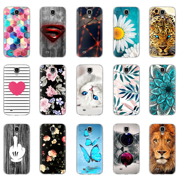 цена на Silicone Soft Case For Samsung Galaxy S4 i9500 Case TPU Cover For Samsung S4 Phone shell da Hoesje Protective For S4 Mini Flower