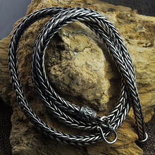 Chain Necklace Jewelry 925-Sterling-Silver Fashion Men with Hook Clasp Retro Antique-Type