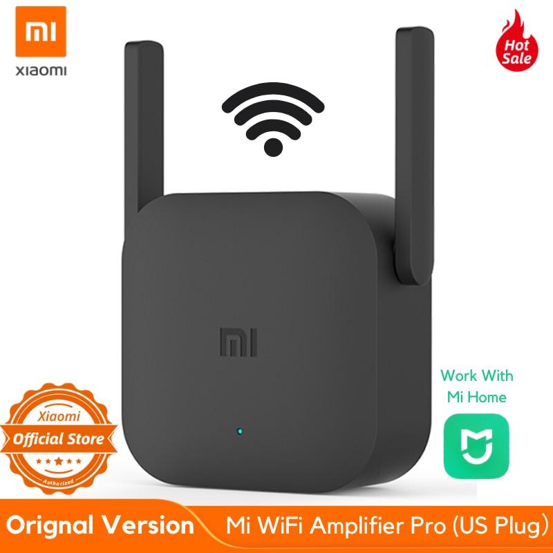 Original Xiaomi Mi WiFi Repeater Pro US Plug 300M Amplifier Network Expander Router Extender Roteador 2 Antenna
