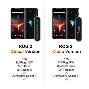 Image 2 - ASUS ROG Phone 2 Global Version Gamingphone 512GB ROM 12GB RAM ZS660KL OTA Update Snapdragon 855 Plus 6000mAh NFC Android9.0