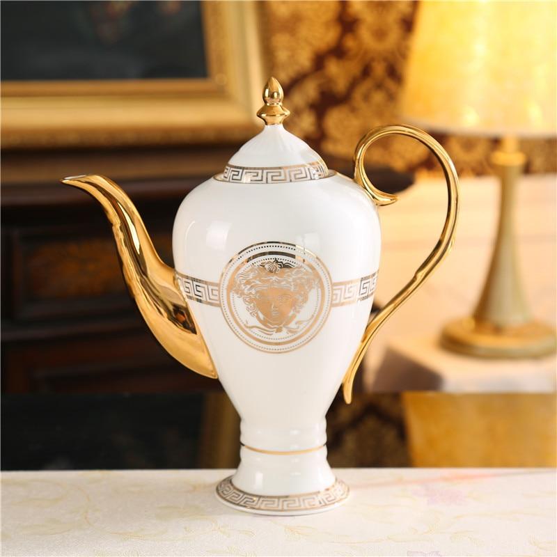 Ceramic Teapot Water Bottle Creative Bone China Large Capacity Water Bottle For Family Hotel Useful Coffee Pot Kitchen Utensils