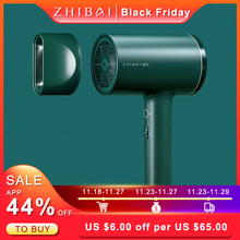 Fan Dryers ZHIBAI Anion Travel Portable Green And Ac Magnetic-Suction-Nozzle Packaged