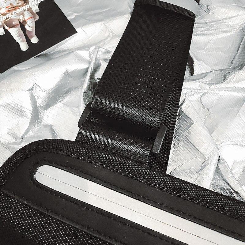saco de equipamento de peito hip-hop masculino
