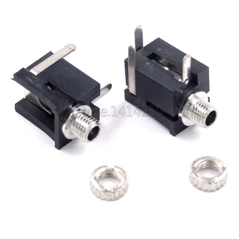 10Pcs Good Quality PJ202M <font><b>2.5mm</b></font> Female Audio Connector 3 Pin DIP Headphone <font><b>Jack</b></font> Socket <font><b>Mono</b></font> Channel PJ-202M image