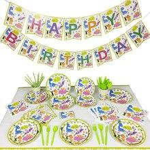 Dinosauro tema del partito stoviglie usa e getta di compleanno decorazioni festa per bambini per Un anno di età battesimo rifornimenti del partito della decorazione