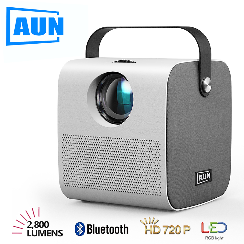 AUN 2020 Newest HD Mini Projector   AKEY7 Young 2800 lumen HIFI Bluetooth Speaker Home Cinema For 1080P 3D Beamer Game Proyector LCD Projectors    - AliExpress