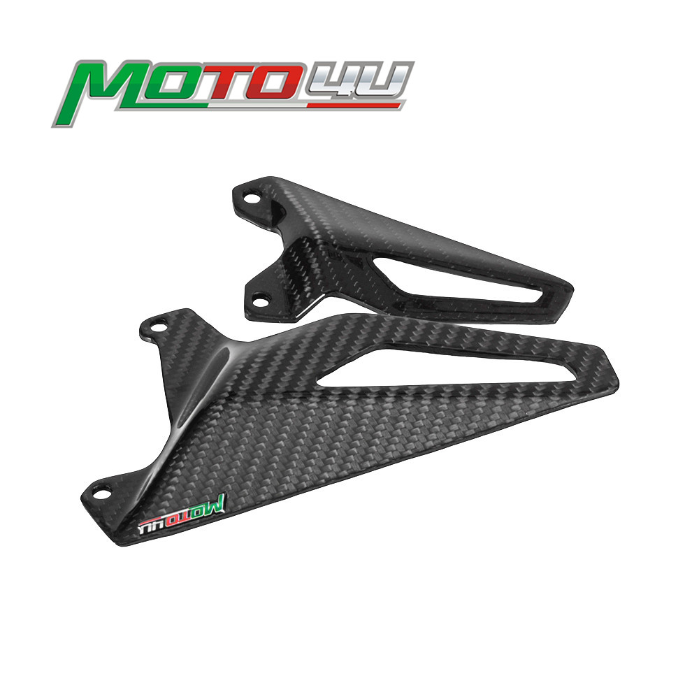 Plaque de protection du talon pour moto Ducati Panigale V4 V4S 100% 2018, plaque de protection du pied, superposition brillante 3K, 2019